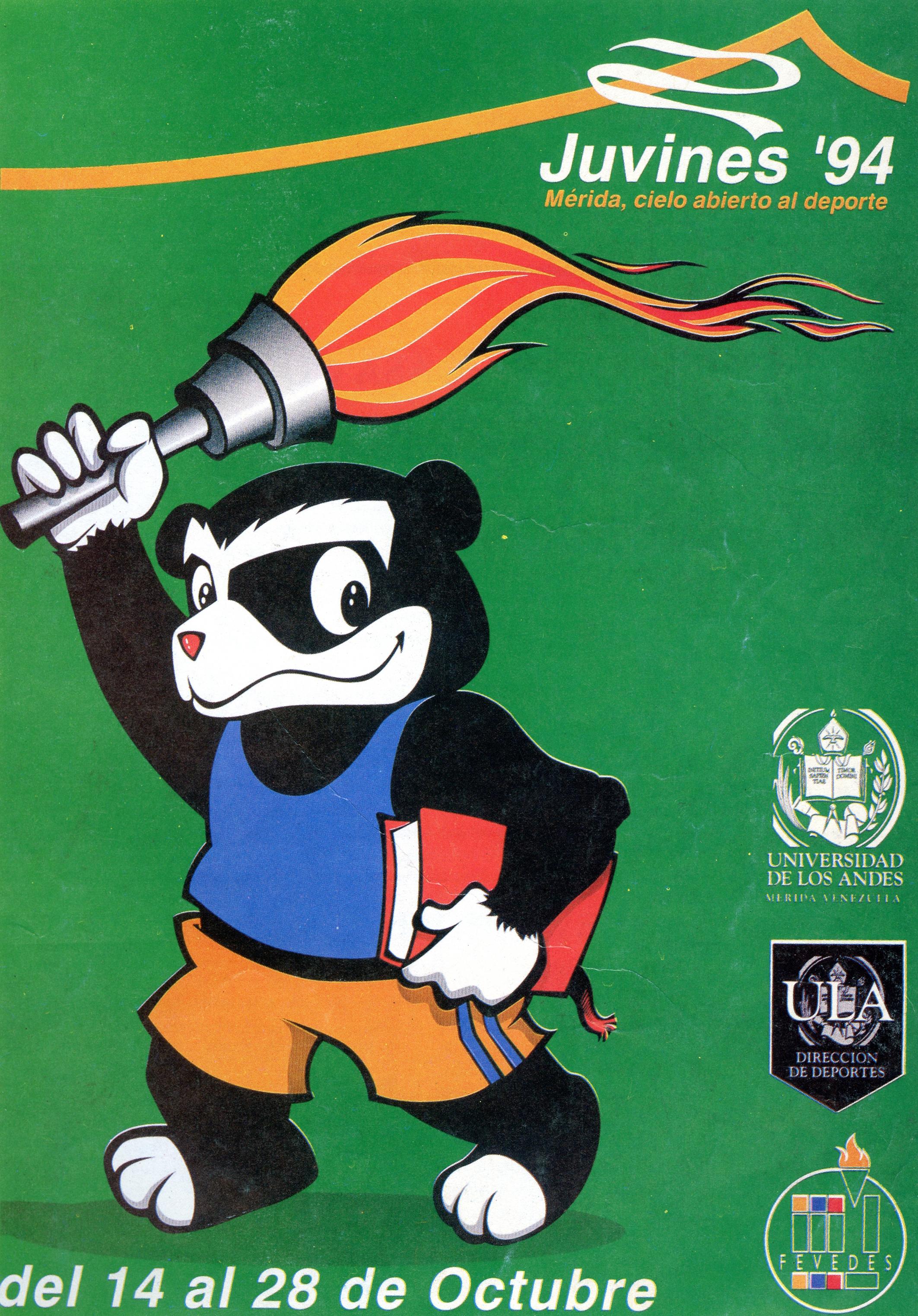 Afiche promocional Juvines de 1994 con el que se lanzo la nueva identidad